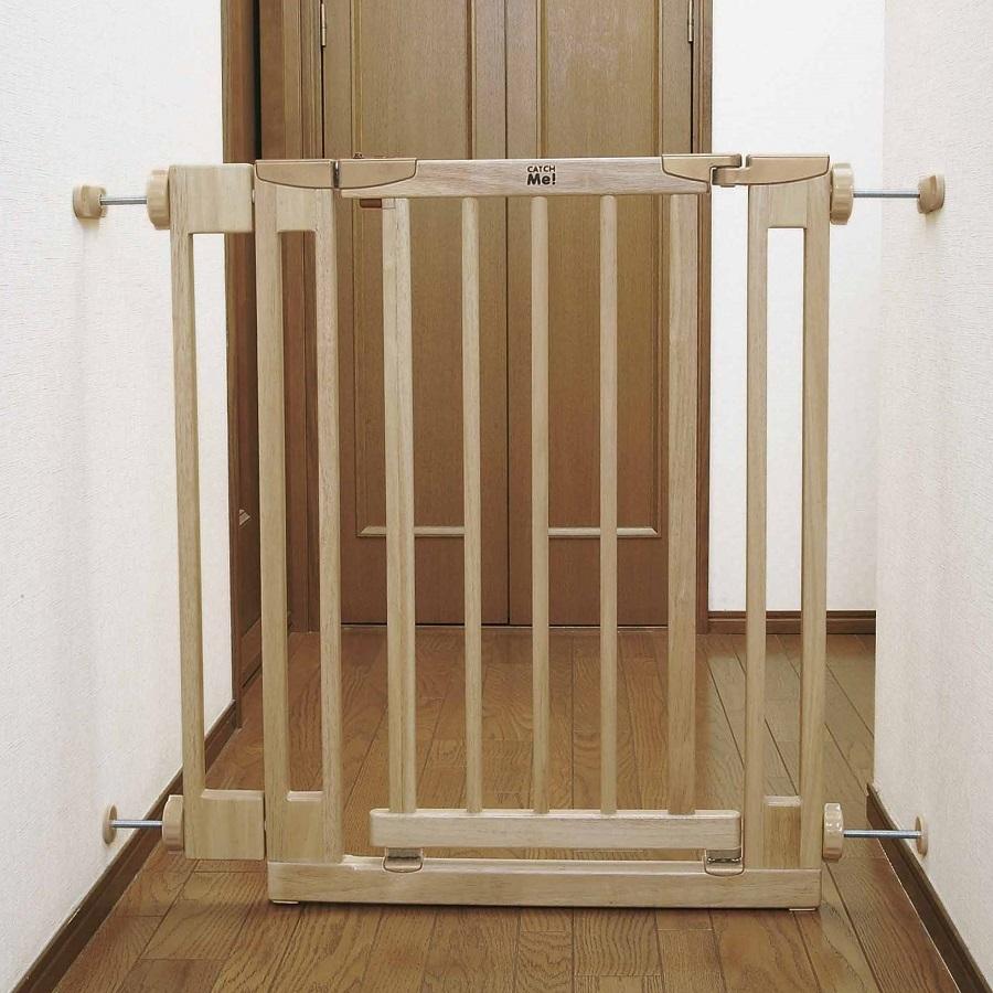 のびのび木製ダブルロックベビーゲート